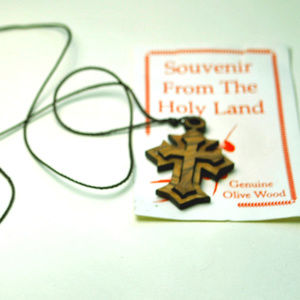 Authentic Olive wood CrossFrom The Holy Land